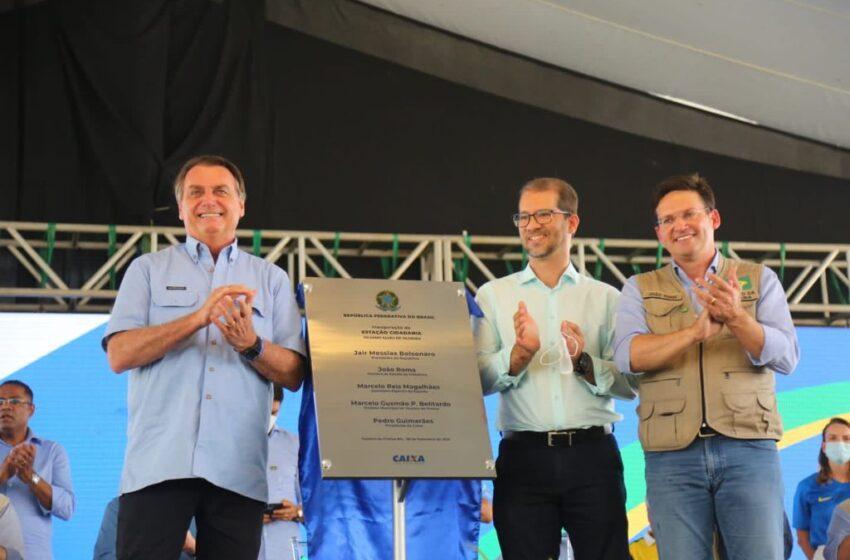 Teixeira de Freitas recebe presidente Jair Bolsonaro para entrega da Estação Cidadania